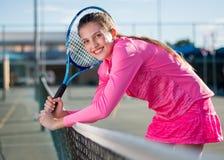 Tennis player. Portrait stock image