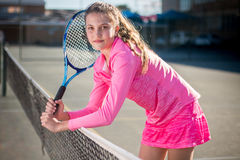 Tennis player. Portrait royalty free stock photography