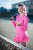 Tennis player. Portrait royalty free stock image