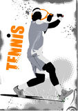 Tennis player poster Royalty Free Stock Photo