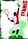 Tennis player poster Stock Photography