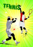 Tennis player poster Stock Images