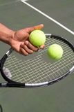 Tennis Player Racket View-Vertical Royalty Free Stock Photo