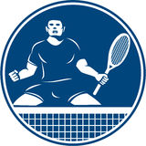 Tennis Player Racquet Fist Pump Icon Royalty Free Stock Photography