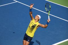 Nadal. Tennis player Rafael Nadal at the 2017 US Open tennis grand slam Royalty Free Stock Images