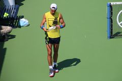 Nadal. Tennis player Rafael Nadal at the 2017 US Open tennis grand slam Royalty Free Stock Image