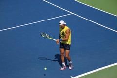 Nadal. Tennis player Rafael Nadal at the 2017 US Open tennis grand slam Stock Image