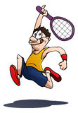 Tennis player ready to hit Royalty Free Stock Images