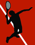 Tennis player serving. On clay Royalty Free Stock Photos