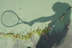 Tennis Player Shadow Royalty Free Stock Photo
