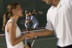 Tennis Player Shaking Hands Royalty Free Stock Image