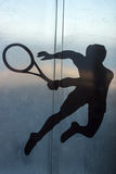 Tennis player, silhouette Royalty Free Stock Photography