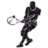 Tennis player, silhouette Royalty Free Stock Photo