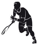 Tennis player, silhouette Stock Image