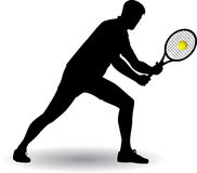 Tennis player silhouette. Vector illustration Stock Images