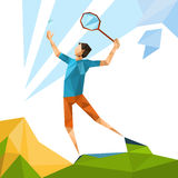 Tennis Player Sport Game Competition Stock Image