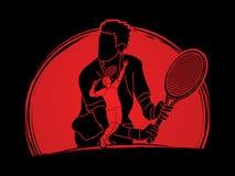 Tennis player sports man Stock Image