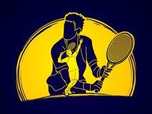 Tennis player sports man Stock Photography