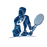 Tennis player sports man Royalty Free Stock Photo