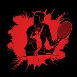 Tennis player sports man Stock Photos