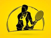 Tennis player sports man Royalty Free Stock Photos