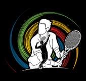 Tennis player sports man Stock Photo