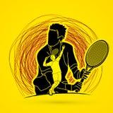 Tennis player sports man Royalty Free Stock Image