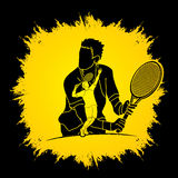 Tennis player sports man Royalty Free Stock Photography