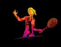 Tennis player sports woman Royalty Free Stock Photos