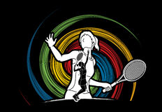 Tennis player sports woman Royalty Free Stock Photography