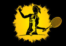 Tennis player sports woman Royalty Free Stock Photos