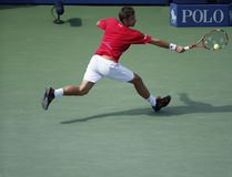 Tennis player Stanislas Wawrinka during semifinal  Royalty Free Stock Photos