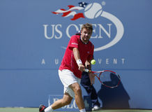 Tennis player Stanislas Wawrinka during semifinal Royalty Free Stock Images