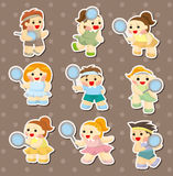 Tennis player stickers Royalty Free Stock Photo