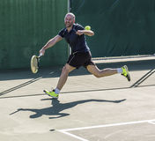 Tennis player. Striving in a match Stock Photo