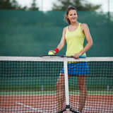 Tennis player on the tennis court Stock Image