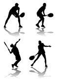 Tennis player vector Royalty Free Stock Photos