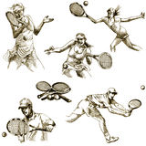Tennis players Royalty Free Stock Photos