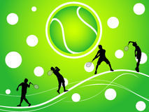 Tennis players Royalty Free Stock Images
