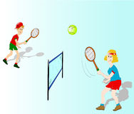 Tennis players vector illustration