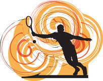 Tennis players illustration. Tennis players illustration with abstract background, made in adobe illustrator Stock Image