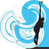 Tennis players illustration. Tennis players illustration with abstract background, made in adobe illustrator Stock Photo
