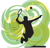 Tennis players illustration. Tennis players illustration with abstract background, made in adobe illustrator Stock Images