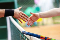 Free Tennis Players Shake Hands After Match Stock Photos - 156659033