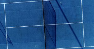 Tennis players on speed surface. Aerial view Stock Photography