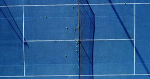 Tennis players on speed surface. Aerial view Royalty Free Stock Photo