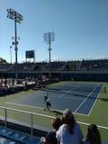 Tennis Players Stephane Robert and Lorenzo Giustino, 2017 US Open, New York City, New York, USA Royalty Free Stock Photography