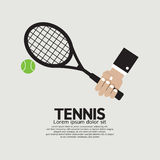 Tennis Playing Graphic Stock Photos