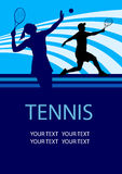 Tennis - 5 poster background Stock Image