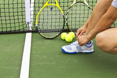 Tennis Preperation Royalty Free Stock Image